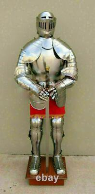 Medieval Knight Wearable Suit Of Armor Crusader Gothic Full Body Armour Prop