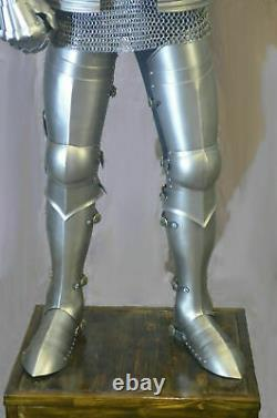 Medieval Knight Wearable Suit Of Armor Crusader Gothic Full Body Armour W Stand