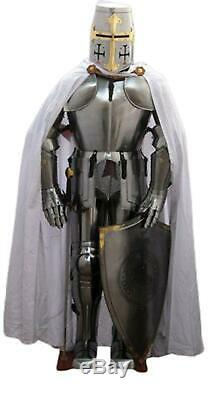 Medieval Knight Wearable Suit Of Armor Crusader Gothic Full Body Armour costume