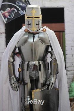 Medieval Knight Wearable Suit Of Armor Crusader Templar Full Body Armour AC06