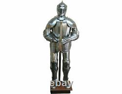 Medieval Knight Wearable Suit of Armor Full Body Armour Costume Silver Armor