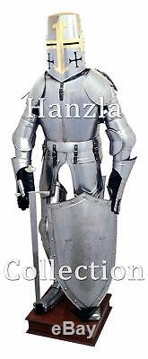 Medieval Knight full Suit Armour With Shield & Sword 15th Century Suit of Armor