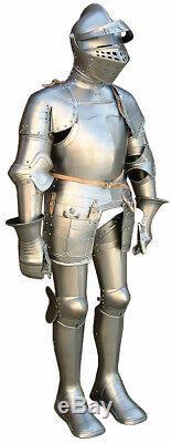 Medieval Knight's Armor Suit 14-15th Century SCA LARP Templar armor Suit Replica