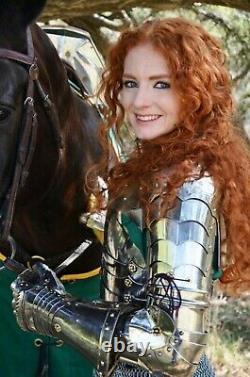 Medieval Lady Armor Female knight Warrior girl Suit Battle Half Body Costume