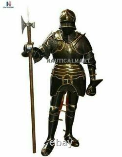 Medieval Larp Gothic Full Body Suit Of Armor Battle Knight Reenactment Armoury