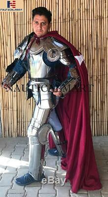 Medieval Larp Knight Wearable Full Suit Of Armor Size 6 Feet Halloween Costume