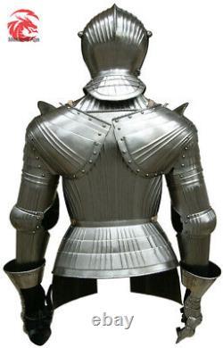 Medieval Maximillian Knight Half Armor Suit Battle Warrior Larp Armor Costume