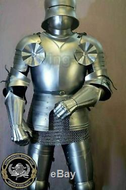 Medieval Plate Armour Knight Suit Battle Costume Steel Armour Suit Full Costume