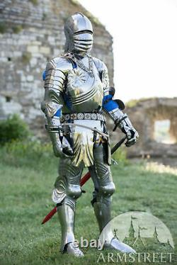 Medieval Plated Gothic Knight Warrior Full Suit Of Armor Body Armor
