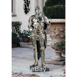 Medieval Replica Italian King's Knight Guard Battle Suite of Armor 39.5 Statue