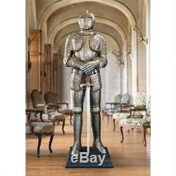 Medieval Replica King's Knight Guard Battle Suite of Armor 69.5 Sculpture