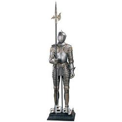 Medieval Replica King's Knight Italian Suite Of Armor With Halberd 72 Statue