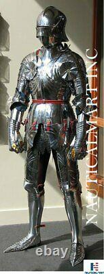 Medieval Stainless Steel Knight Suit Of Full Body Armor Templar Armor Combat