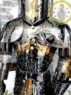 Medieval Stainless Steel Rust free full body Wearable Knight Armor Suit