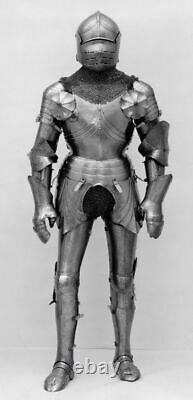 Medieval Steel Knight Armor Suit Antique Polish Surface Armor Suit Life Size