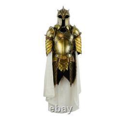 Medieval Steel Larp Warrior Kingsguard Half Body Armor Suit Knight Full Suit
