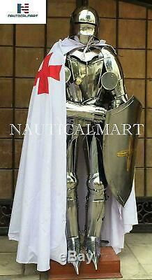 Medieval Suit Of Armor Knight Armour Gothic Full Body Suit Sword Shield Costume