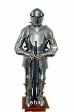 Medieval Templar Medieval Wearable Knight Combat Armor Full Suit With Stand