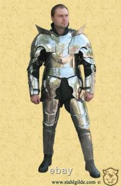 Medieval Warlord Larp Knight Full Suit Of Armor Cuirass/pauldrons/bracers/leg