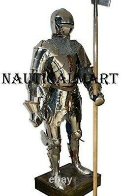 Medieval Warrior Knight Battle Full Suit Of Armor Blackened Cuirass Body Armor P