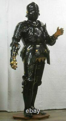 Medieval Warrior Knight Gothic Full Suit Of Armor Blackened Cuirass Body Armor P