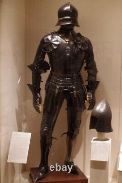 Medieval Warrior Knight Gothic Full Suit Of Armor Blackened Cuirass Body Armor c