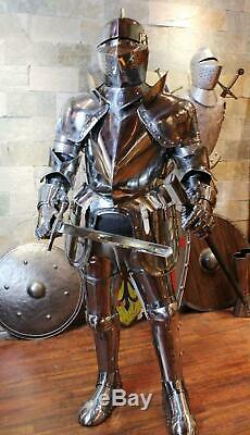 Medieval Wearable Crusader Steel Knight Armor Full Body Suit Armor Knight Suit