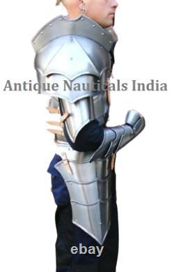 Medieval Wearable Cuirass Armor SCA LARP 18 Ga Steel Knight Suit of Armor