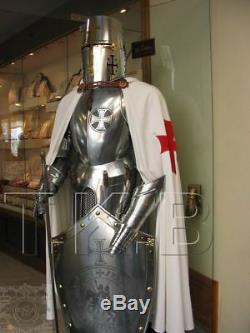 Medieval Wearable Knight Crusader Full Suit Of Armor With Sword Halloween Costum