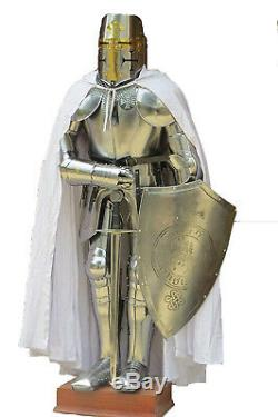 Medieval Wearable Knight Crusader Full Suit Of Armour Collectibles Armor Costume
