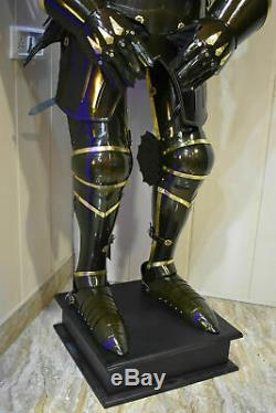 Medieval Wearable Knight Crusader Full Suit of Armor Costume with chain mail