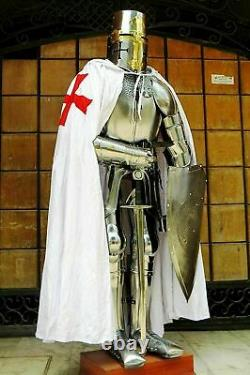 Medieval Wearable Knight Crusador Full Suit of Armour Halloween Costume Replica