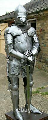 Medieval Wearable Knight Full Armour Costume Suit 6 Feet Halloween Replica Item