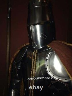 Medieval Wearable Knight Full Suit of Armor Combat Body Collectible Costume