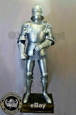 Medieval Wearable Knight Suit Of Armor Crusader Gothic Full Steel Body Armour