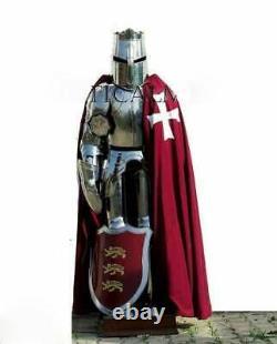 Medieval Wearable Knight Templar Armour Suit Battle Warrior Full Body Armour Sui