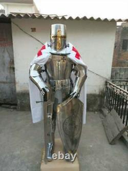 Medieval armour knight wearable suit of armor crusader battle combat full body