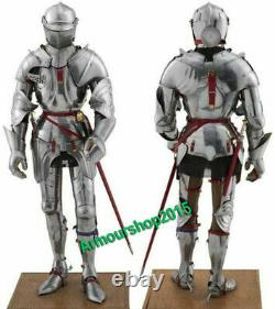Medieval knight suit of armor 17th century combat full body halloween costume