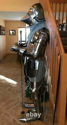 Medieval pig Face Armour Suit Combat Knight Crusader Wearable Suit of Armor