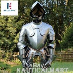 NauticalMart Larp Medieval Knight Wearable Suit Of Armor Costume With Helmet