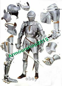 New Medieval Knight Wearable Suit of Armor 15th Century Combat Full Body Armour