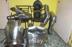 Plate Armour Medieval Knight Wearable Full Suit of Armor LARP Costume