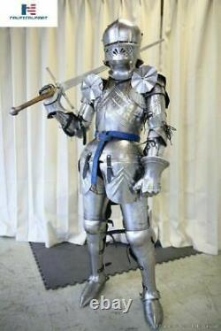 Plate Armour Medieval Knight Wearable Full Suit of Armor LARP Costume Replica