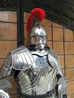 Rare Medieval Knight Suit Of Armor Gothic Full Body Armour Stand