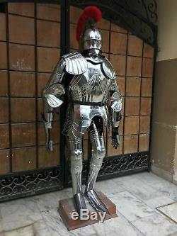 Rare Medieval Knight Suit Of Armor Gothic Full Body Armour Stand Halloween show