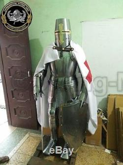 Rare Medieval Knight Suit Of Templar Armor WithSword Combat Full Body Armour Gift2