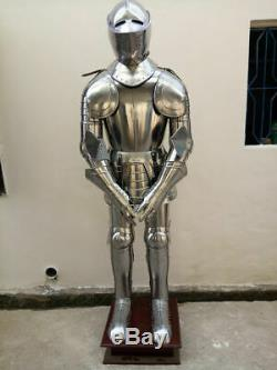 Rare Medieval Knight Suit of Templar Armor WithTunic Combat Full Body Armour Stand