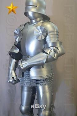 Rare SCA LARP Medieval Gothic Knight Full Suit of Armor 16th Century