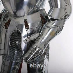Rust Free 18 gauge Steel Medieval Knight Templar Full Suit Of Armor