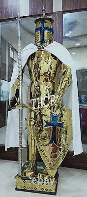 Rust Free Stainless Steel Wearable Medieval Templar Knight Full Suit Of Armour